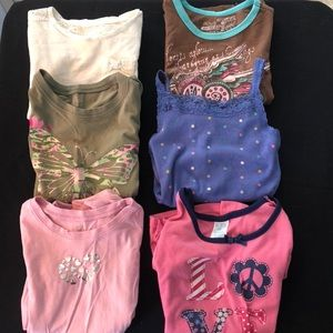 Other - 💖5/$25 bundle of 6 girl's play clothes shirts